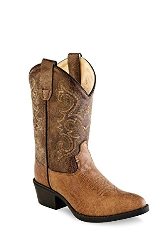 Old West Kids Boots Unisex J Toe Vintage (Toddler/Little Kid) Tan 8.5 M US Toddler M -