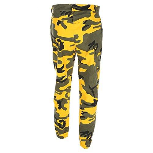 Casual Vêtements Chic Jeans Impression Sports Slim Pantalon Cargo Outdoor Camo Taille Adeshop Jaune Pantalons Femmes Haute Camouflage 8AOqSS