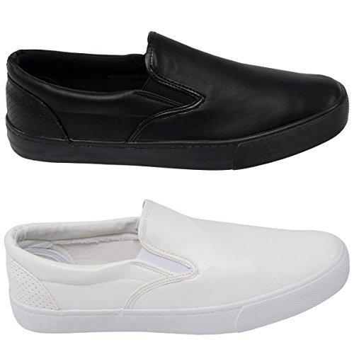 ROCK & Religion Hombre de diseño Calzado Sin Cordones Zapatillas Zapatillas Cordones Zapatos