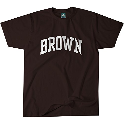 Brown Classic Logo T-shirt (Brown University T-Shirt By Ivysport - Classic Logo, 100% Cotton, Brown, Short Sleeve T-Shirt, Large)