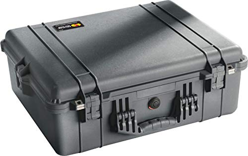 Protector Case Hard - Pelican 1600 Case With Foam (Black)