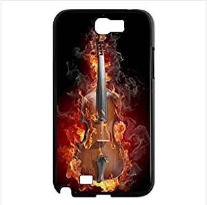 unique design cool Violin pattern Custom phoneCase for Samsung Galaxy note2 N7100 PC case cellphone cover black
