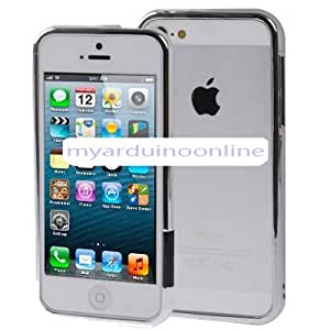 Removable Plastic Bumper Frame for iPhone 5 & 5S (Silver)