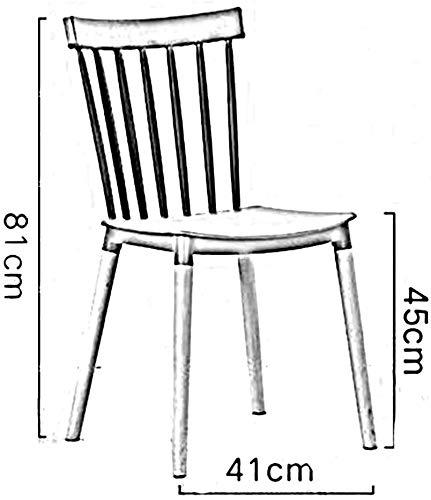 DBL Stabil slät halkfri träben multifunktion plastmontering mänsklig kropp design snygg stol lastkapacitet plast + boktbordsstolar (färg: vit) Svart