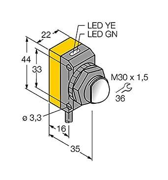 3071559 – qs30ex, Opto sensor desechable Barrera de luz (Transmisor)