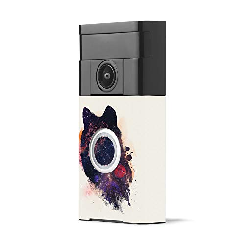 MightySkins Skin for Ring Video Doorbell - Universal Wolf | Protective, Durable, and Unique Vinyl Decal wrap Cover | Easy to Apply, Remove, and Change Styles | Made in The USA