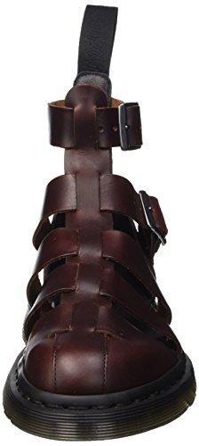 Mujer Brando Marrón Martens Tira Dr para y Zapatos con Tacon Vertical Charro Geraldo ZzvqOPxwH
