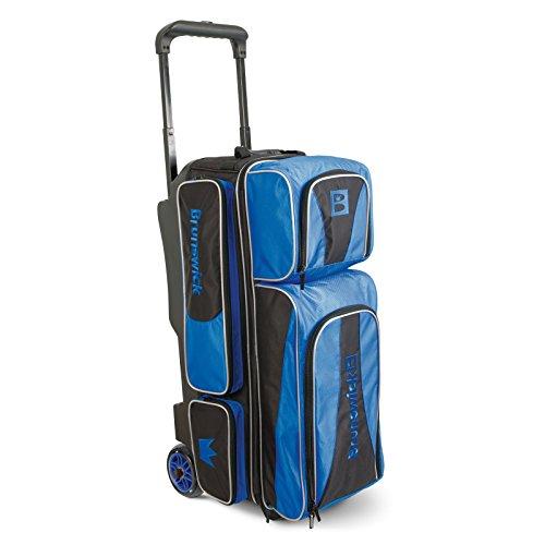 Brunswick CROWN Triple Roller Bowling Bag Royal königsblau 8zYH1LW