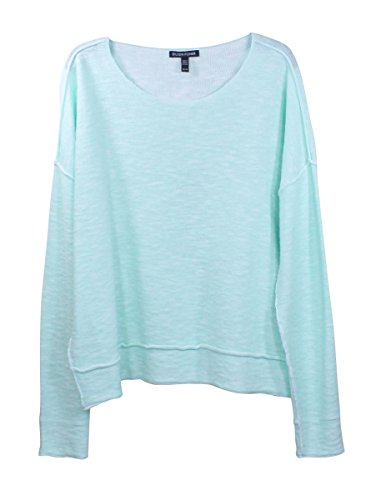 Eileen Fisher Womens Green Mint Round Neck Boxy (Eileen Fisher Stretch Organic Cotton Top)