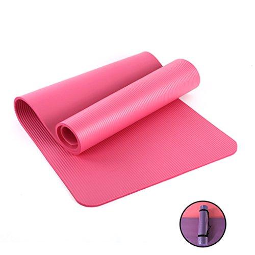 Yoga Mats Sports & Fitness Children's beginners padded non-slip fitness mat tasteless dance jump mat 122cm x 61cm x 1cm (Color : Pink) -  Chi Cheng Fang Electronic business