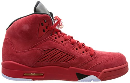 Nike Jordan Mens Air Jordan 5 Retro Scarpa Da Basket Universitario Rosso / Nero