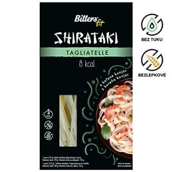Bitters Shirataki Nudeln aus der Konjakwurzel in Tagliatelle form 4 x 390 gr, glutenfrei 4er Pack
