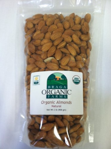 Braga Organic Farms Almonds, Natural, 2 Pound