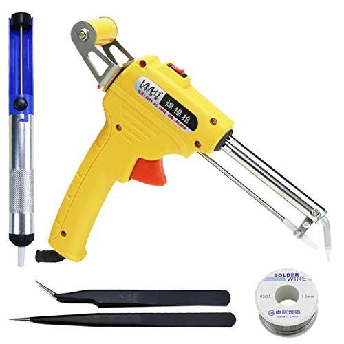(GD Gmgod❤️❤️110V 60W Fast Heating Automatic Send Tin Heat Gun-Type Soldering Station Welding 200x173x28mm Yellow)