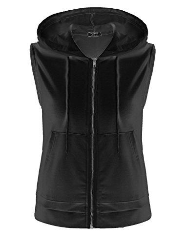 Womens Full Zip Wind Vest - 7