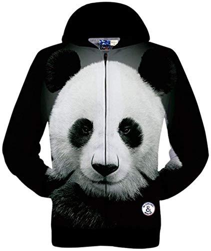 Outwear Outwear Hop Laterali Laterali Tasche Digitale A Giacche Animal Stile Cappuccio Unisex Stampa Lunghe 6 con Semplice 3D con con Maniche Hip Colour zwYUqz