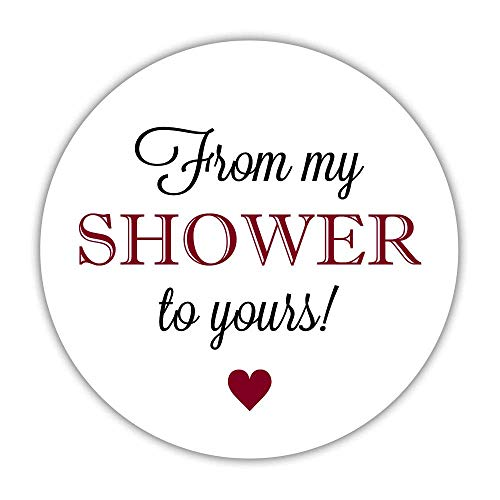 (40 from My Shower to Yours Favor Stickers, 2 inches - Baby Shower soap Labels - Bridal Shower Sugar Scrubs (Indian)