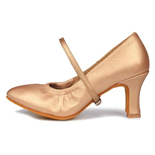 Marrone Model Latino Leather Donna Ballroom Da Scarpe Standard 7cm Ballo it5003 scarpe Swdzm Ballo cOv1FqwF