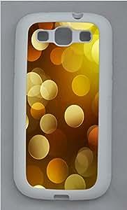 Samsung S3 Case Circle background TPU Custom Samsung S3 Case Cover White