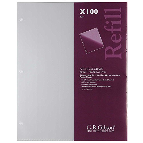 - C.R. Gibson X100 Photo Safe, Looseleaf Memory Books B0 and W0, 9