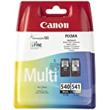 Canon PG-540 &CL-541 - Pack de 2 cartuchos de tinta original, negro, color