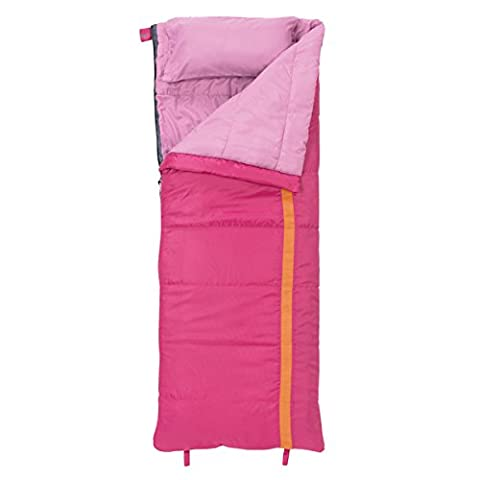 Slumberjack Kit 40-degree Girls Ideal Soft Sleeping Bag includes Carry Bag, Pink (Baby Mammoth Mummy)