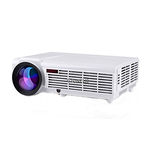 Video Projector, Gzunelic 4200 Lumens Full HD LCD Projector Home Theater  LED LCD Proyector, Business PPT Presentations 1080P Projector, Compatible