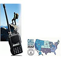 Icom Handheld radio, 2m, 5.5W, AA and Ham Guides TM Pocket Reference Card Bundle