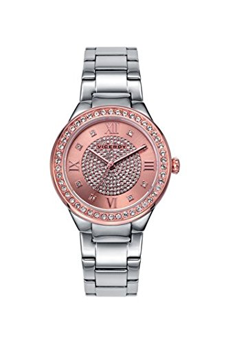 0c3bc352ecd0 Viceroy Reloj Analogico para Mujer de Cuarzo con Correa en Acero Inoxidable  461018-93  Amazon.es  Relojes