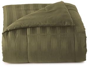 Blanket America Dobby 5-Piece Full Bonus Comforter Set, Leaf Green