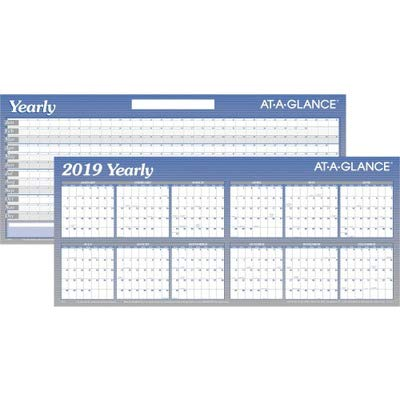 Visual Organizer Products - Visual Organizer - Write-On/Wipe-Off Yearly Wall Planner in Two 6-Month Sections, 60 x 26 - Sold As 1 Each - Huge five-foot horizontal planner is highly visible. - Large 2 x 1 3/8 daily blocks for your notes. - Change plans easily by erasing notes with a damp cloth and rewriting.