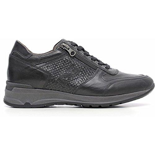 Sneaker Femme en Cuir Noire a616053d-100-Noir jardins