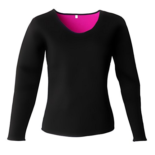 Homyl T-shirt de Sport Femme en Néoprène Noir Rose