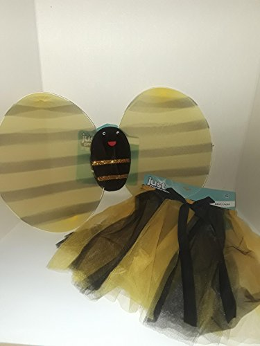 Makeup For Bumble Bee Costumes (HALLOWEEN COSTUME JUST PRETEND BUMBLEBEE OUTFIT W/ MATCHING SKIRT 2 PIESE SET YELLOW WITH BLACK MARKINGS)