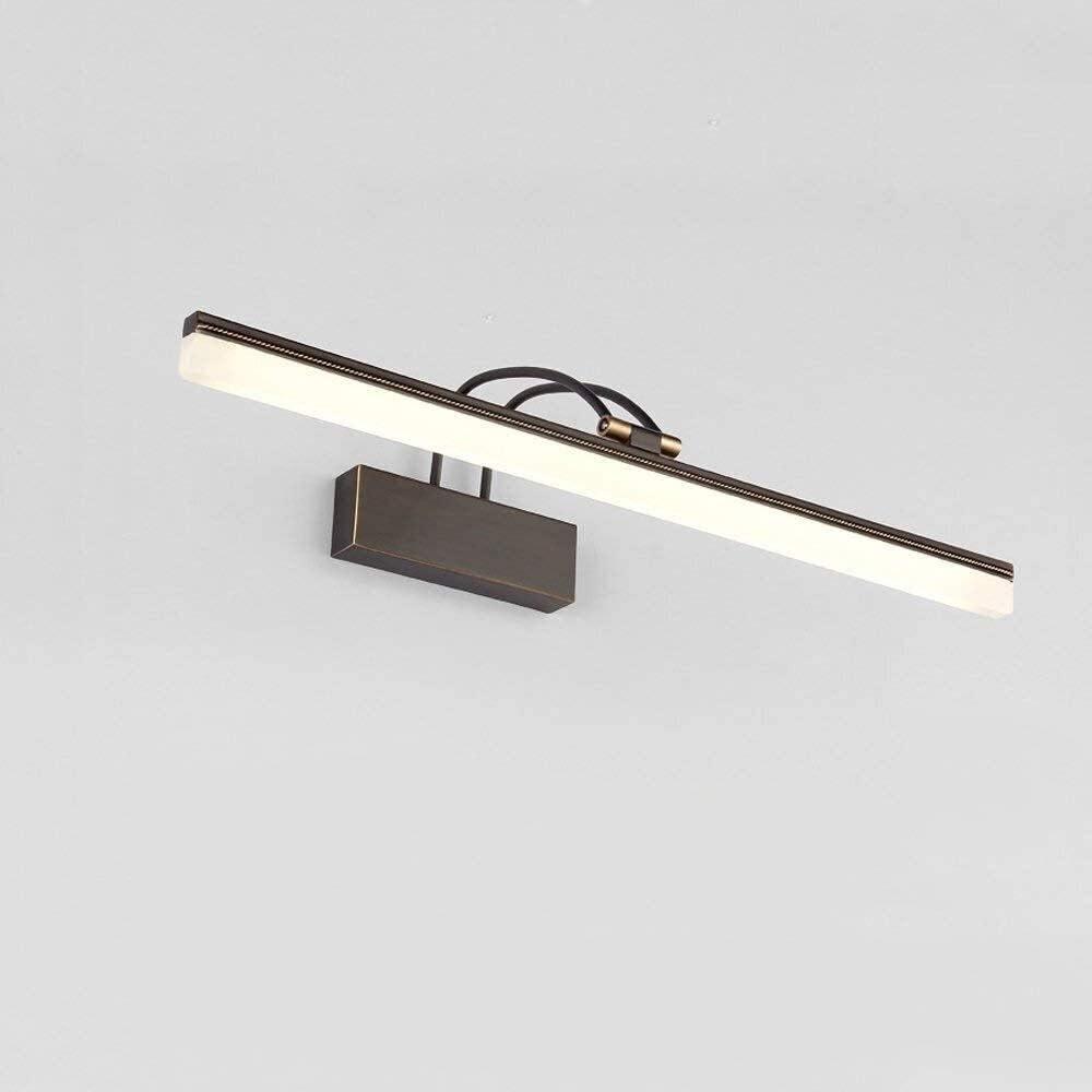 ZHUYU Retro-Spiegel-Licht, LED-Spiegel-Lampe Neutral White 4000K, Lampenkopf Einstellbarer Badezimmer Lampe Make-up-Wandleuchte, for Badezimmer, Schminktisch, Schlafzimmer (Color : Brown-73cm) Brown-73cm