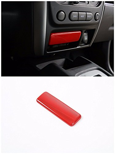 Niceautoitem Red Front Ashtray Trim Cover Interior Styling Accessories ABS for SUZUKI Jimny 2008 UP - Ashtray Trim