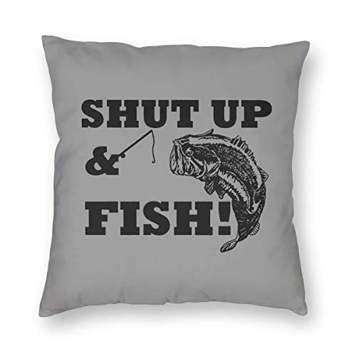 Roll Slipcover Top Headboard - ArthurBarros Shut Up & Fish Cotton Velvet Double-Sided Printed Pillowcase (Without Pillow) 26