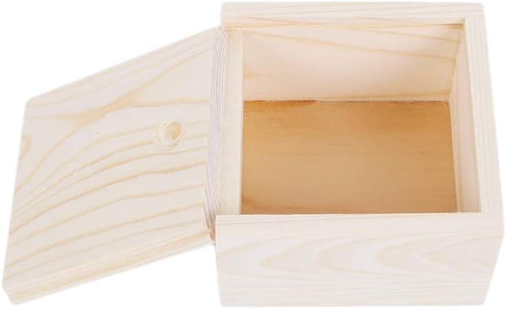 Henxing Caja de Almacenamiento de Madera sin Acabado con Tapa Deslizante para Bricolaje, Decora con Cinta de Pintura y más: Amazon.es: Hogar