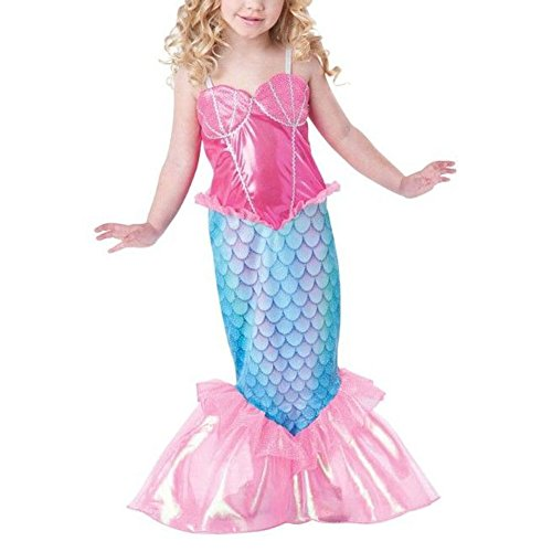 [Infant Toddler Baby Halloween Clothes Mermaid Kids Girls Dresses Costume (140 (6-7Y))] (Mermaid Dress For Girl)