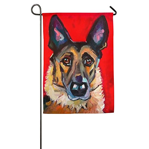 Fluttering German Shepherd Dog Winter Home Yard House Garden