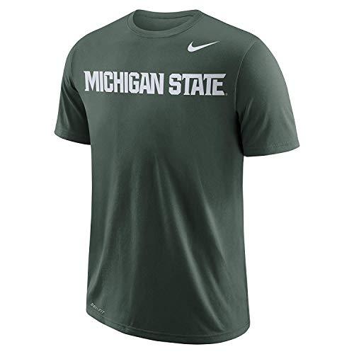 Nike Men's Michigan State College DFCT Wordmark T Shirt Green Size Large