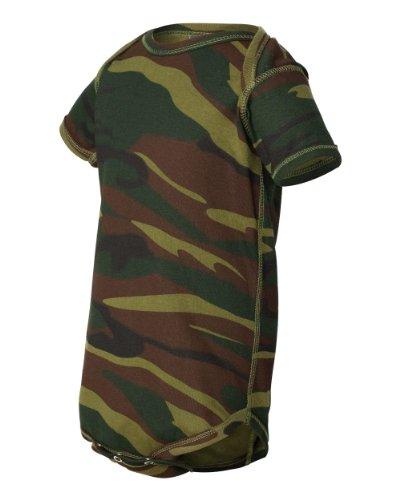 Code Five 4403 Infant Baby Camo Onesie Bodysuit Camouflage Creeper (6M, Green Woodland)