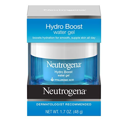 Neutrogena Hydro Boost Hyaluronic Acid Hydrating Water Face Gel Moisturizer for Dry Skin, 1.7 fl. oz (Best Body Lotion For Dry Skin In Summer With Spf)