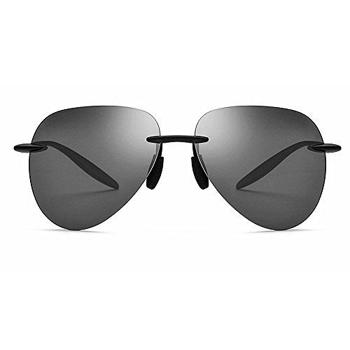 Black Gray Color Retro Montura UV400 sin Women sin Skull rebordes Fashion Yxsd Men Sunglasses HOq7ZZw4