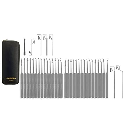 3aafb7f0083 SouthOrd 37 Piece Slimline (Euro) Lock pick-set  Amazon.co.uk  DIY   Tools