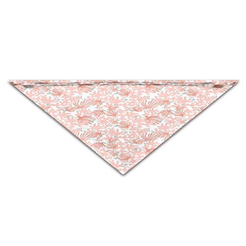 (Puppy Dog Cat Pet Scarf Coral and Fish 11.8x27.5 inches Dog Bandanas)