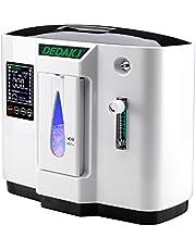 HUKOER Portátiles Ox-ygen Generadores de conc-entrada Máquina doméstica, purificador de aire 90% Flujo de alta pureza 1-5L / min Ajustable AC 220V Silencioso (1A)