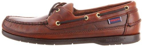 Sebago hombres Schooner zapatos,marrón Oiled Waxy,11.5 M US/D