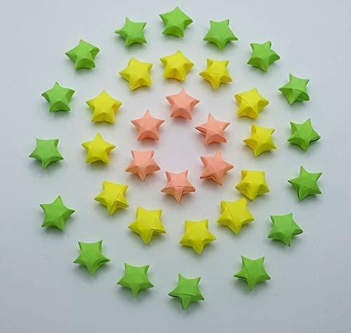 Home Lucky Stars Gift Jar Wedding 100 Origami Lucky Stars Green Tone