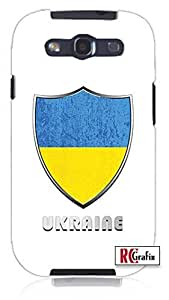 Cool Painting Premium Ukraine National Flag Badge Direct UV Printed Unique Quality Soft Rubber Case for Samsung Galaxy S4 I9500 - White Case